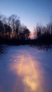 Winter Fat Bike Route with Views in Cable, WI